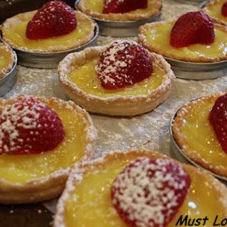 Lemon Tart with Strawberries