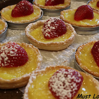 Lemon Tart with Strawberries.