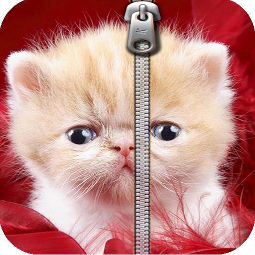 可爱的小猫屏幕锁定 生活 App LOGO-硬是要APP