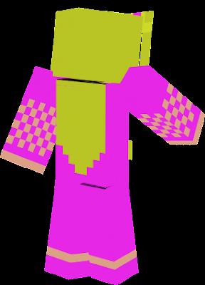 A princess with magenta clothing