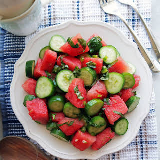 Watermelon Cucumber Jalapeño Salad.