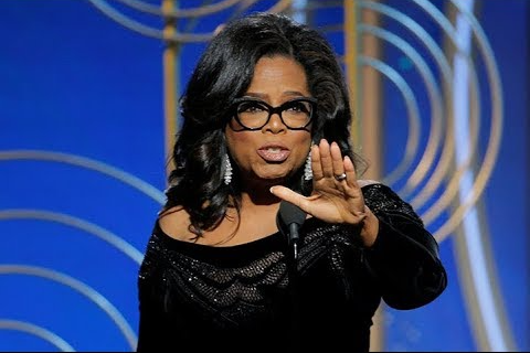 Oprah Winfrey was awarded the 2018 Cecil B. de Mille award at the Golden Globe Awards on Sunday.