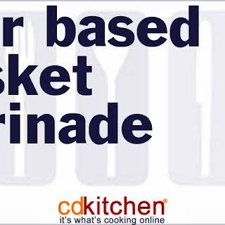 Beer Based Brisket Marinade.