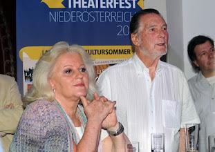 Photo: Theaterfest Niederösterreich 2011 - Programmpräsentation am 19. Mai 2011 im Novomatic-Zentrum Wien/Friedrichstrasse. Die Intendanten Marika Lichter und Prof. Jürgen Wilke. Foto: Barbara Zeininger
