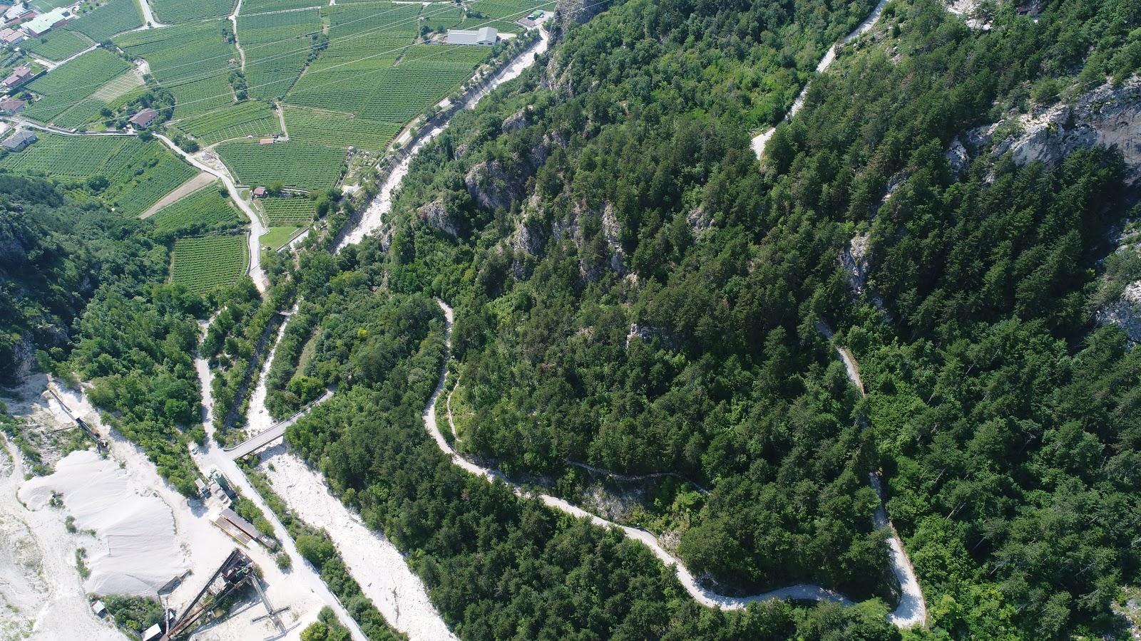 Scanuppia, Italy, Italian Alps, hairpins drone photo