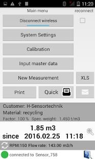 SensorManager - náhled