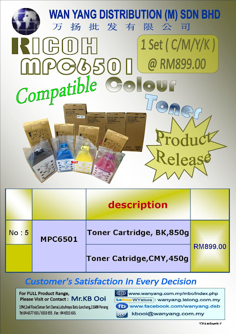 RICOH AFICIO -MPC6501 Compatible Copier Toner Cartridge