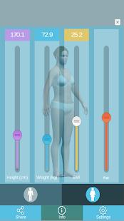 3D BMI Calculator Free- screenshot thumbnail