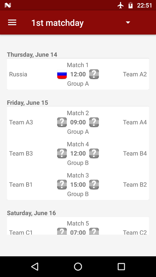 World Cup Russia 2018- screenshot