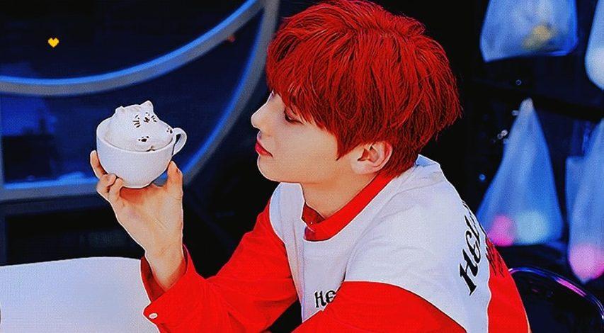 minhyun red hair