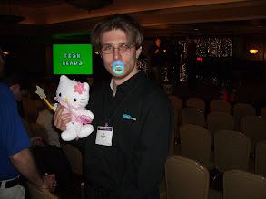 Photo: Nick Boldt wins a prize at EclipseCon 2006 trivia contest