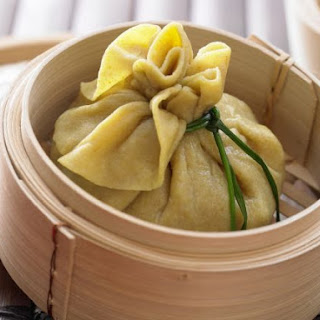 Steamed Vegetarian Dumplings.