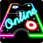 Glow Air Hockey Online icon