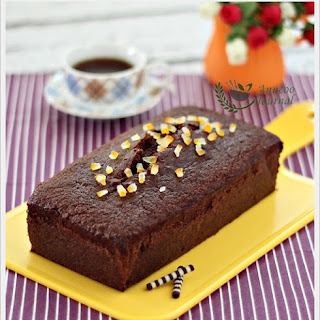 Chocolate Orange Loaf Cake.
