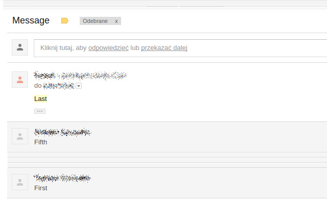 Gmail reverse conversation