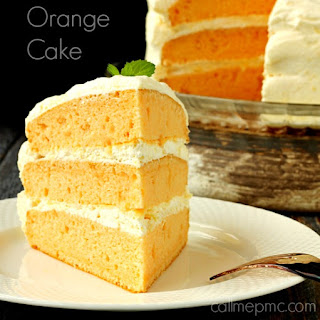 Orange Cream Cake With Cool Whip Pudding Frosting.