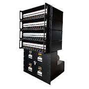 Modular System with Base Unit feeding 4 x 3U 12ch Modules