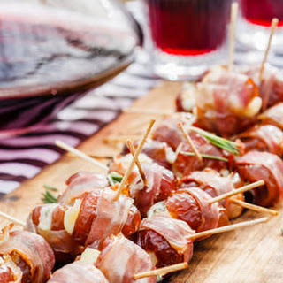 Proscuitto Wrapped Dates Stuffed with Goat Cheese Recipe
