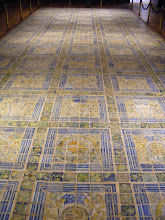Photo: The original Château flooring was not wood, as today, but these polychrome tiles.