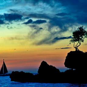 boracay sunset by Yoy Escosura - Landscapes Travel