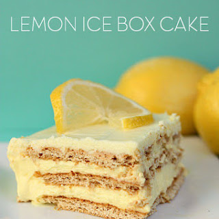 No Bake Lemon Ice Box Cake.