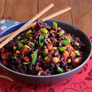 Sesame Ginger Wild Rice and Barley Salad.
