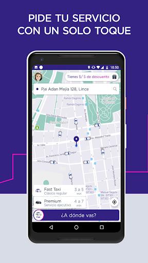 Fast Taxi - App gratuito de viajes. screenshot 1