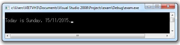 Hàm strftime trả về số kí tự được đặt trong strDest