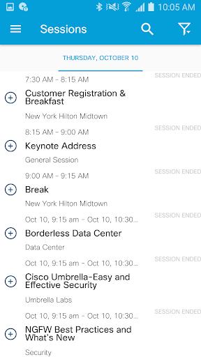 Cisco Events screenshot 4