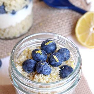 Blueberry Lemon Quinoa Parfait.