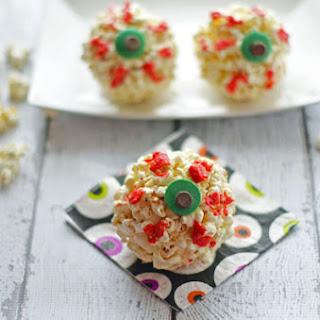 Halloween Eyeball Popcorn Balls Recipe