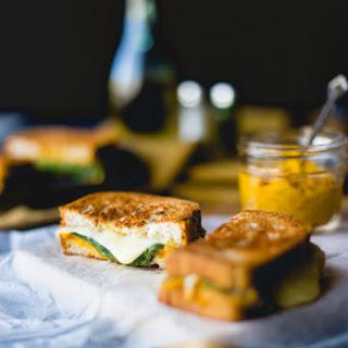 Gluten Free Grilled Cheese Hummus Sandwich with Pumpkin
