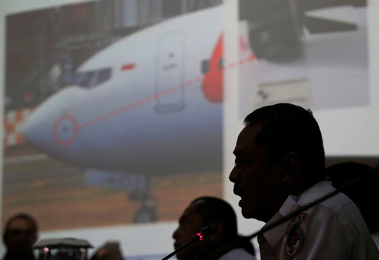 Indonesia's National Transportation Safety Committee sub-committee head for air accidents, Nurcahyo Utomo, addresses a news conference on its investigation into a Lion Air crash, in Jakarta, Indonesia, November 28 2018. Picture: REUTERS/WILLY KURNIAWAN