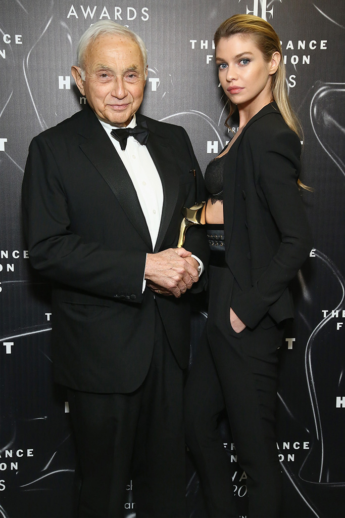 Les Wexner (L) and Stella Maxwell
