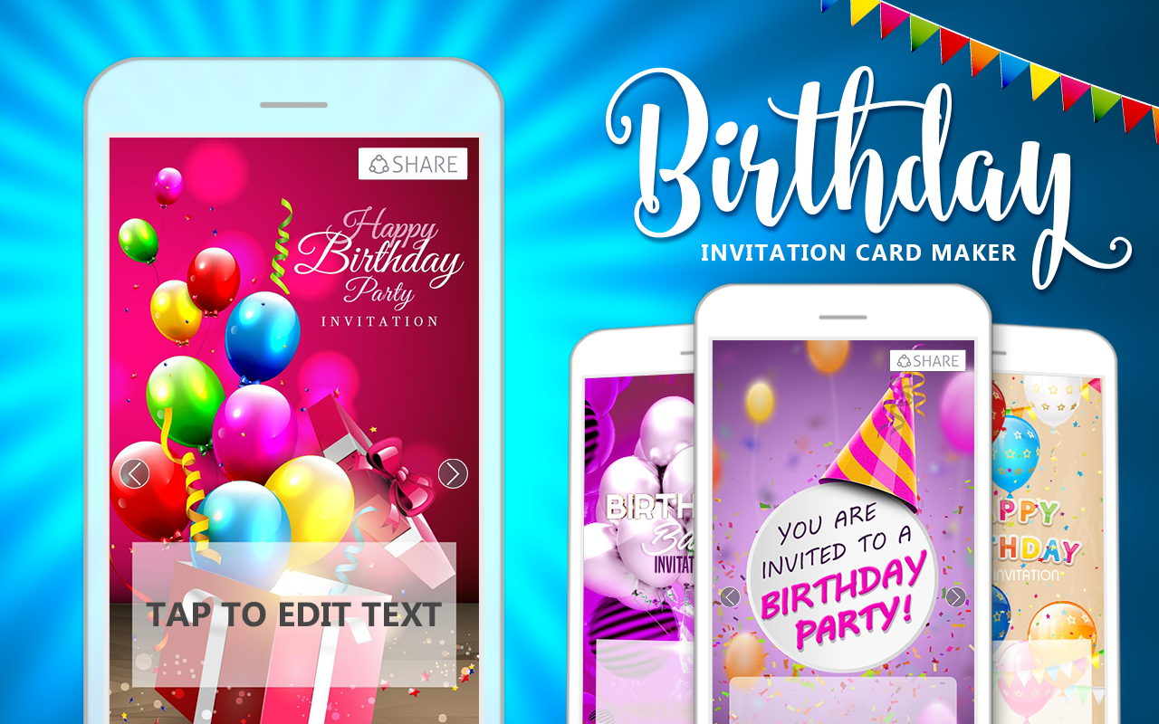Birthday invitation card maker apk 60 download free photography birthday invitation card maker screenshot stopboris Image collections