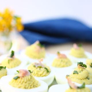 Lemon Cilantro Deviled Eggs
