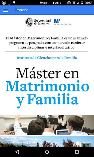 Master en Matrimonio y Familia