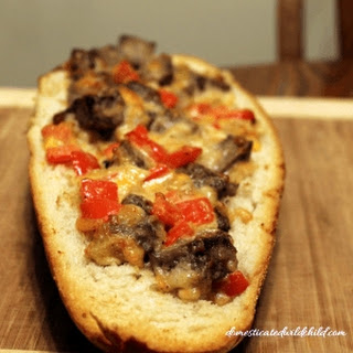 Steak and Pepper Stuffed Bread