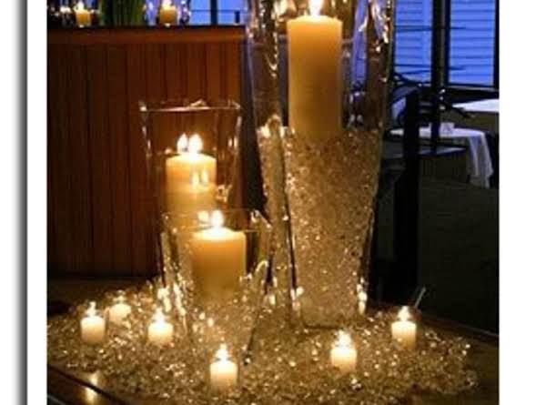 Sparkling Diamond Themed Candle Centerpiece