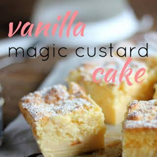 Vanilla Magic Custard Cake.