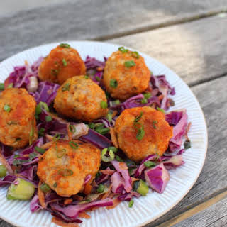 Buffalo Chicken Meatballs by All-American Paleo Table.