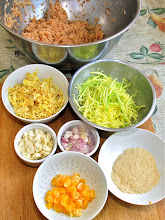 Photo: ingredients prpeared for the shrimp paste rice