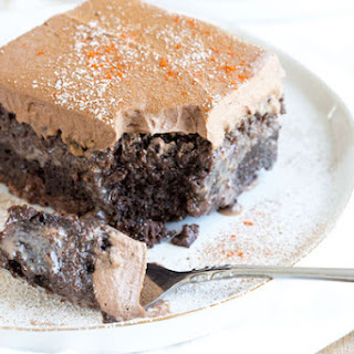 Mexican Chocolate Tres Leches Cake.