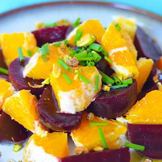 Fresh Orange Salad W. Baby Beets.