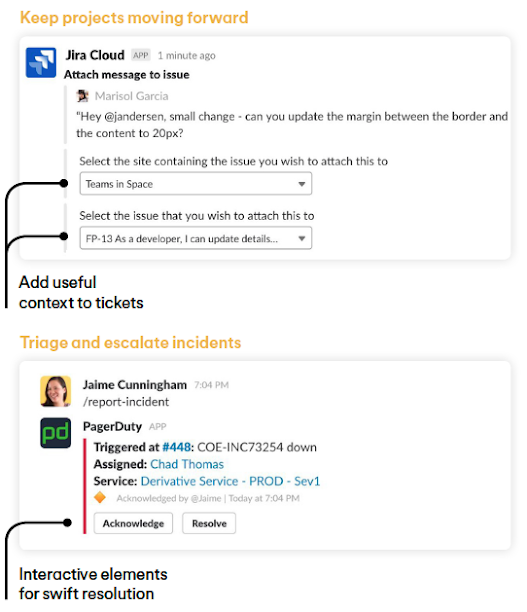 Slack Sample integrations for DevOps