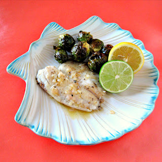 Lemon Lime Tilapia with Roasted Brussels Sprouts