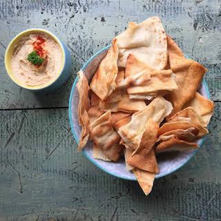 Homemade Baked Pita Chips.