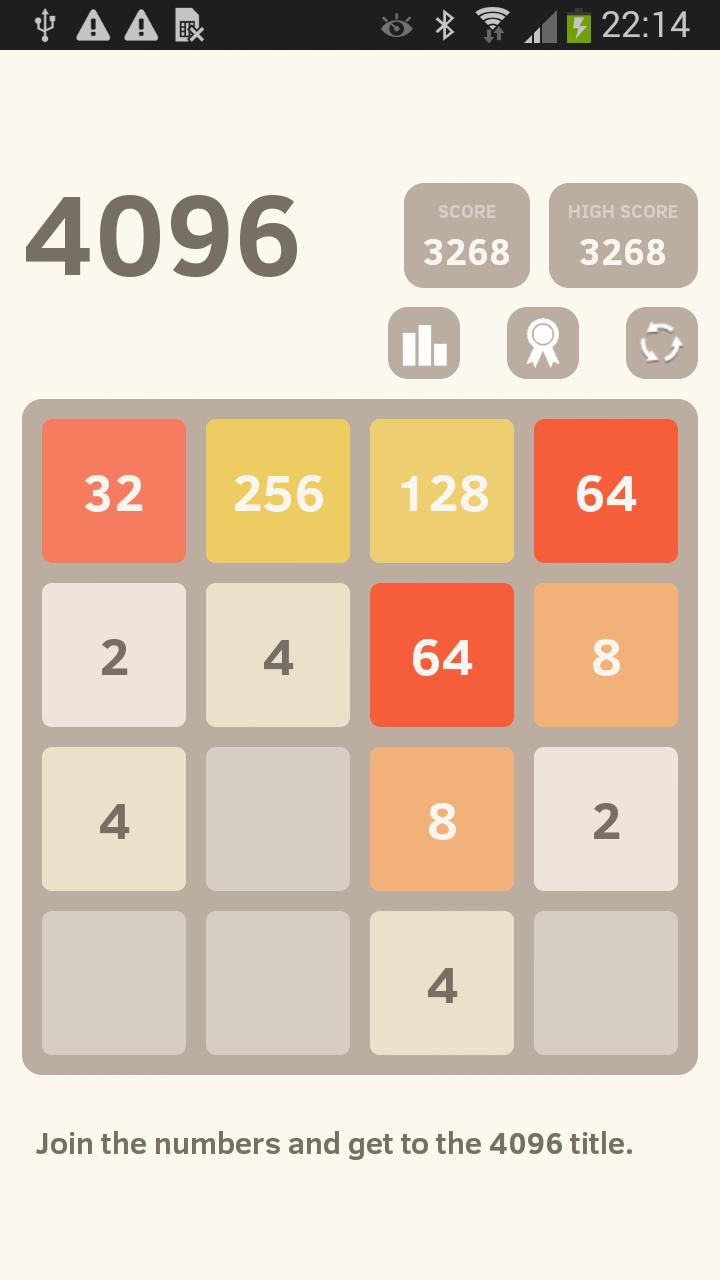 Скриншот Двигай, смешивай плитки = 4096