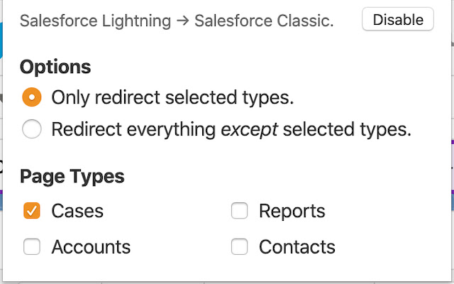Salesforce Lightning to Classic