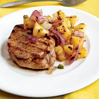 Pan-Grilled Pork Chops with Grilled Pineapple Salsa